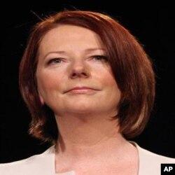 ທ່ານນາງ Julia Gillard ນາຍົກລັດຖະມົນຕີ ອອສເຕຣເລຍ.