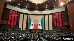 FILE - Members of the Mexican congress attend a session in Mexico City, Dec. 14, 2010.