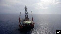 Giàn khoan nước sâu Centenario ngoài khơi bờ biển Veracruz, Mexico ở vịnh Mexico.
