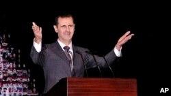 1월 시리아 다마스쿠스 오페라 하우스에서 연설하는 아사드 대통령