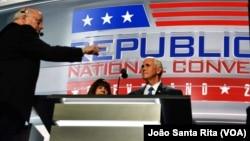 Mike Pence prepara discurso de hoje à noite