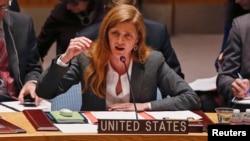 """La embajadora de EE.UU. en la ONU, Samantha Power, calificó de """"peligrosa"""" la intervención militar rusa en Ucrania."""