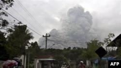 Núi lửa Merapi lại phun trào ở Cangkringan, Yogyakarta, Indonesia, 31/10/2010