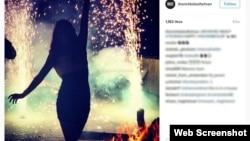 """تصویری از صفحه """"بچه پولدارهای تهران"""" که به نظر میرسد مربوط به یک پارتی شبانه است. پلیس با پارتی های مختلط برخورد میکند."""