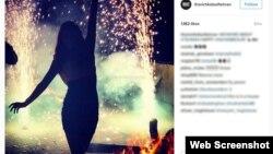 """تصویری از صفحه """"بچه پولدارهای تهران"""" که به نظر میرسد مربوط به یک پارتی شبانه است"""