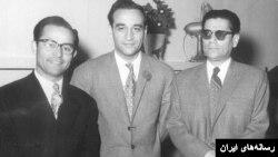 از راست: حسین تهرانی، فرامرز پایور و حسین دهلوی.