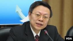 台灣主管大陸事務的陸委會主委王郁琦(美國之音張永泰拍攝)