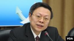 台湾陆委会主委 王郁琦(美国之音张永泰拍摄)