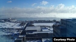 The extreme cold weather creates vapor that is seen over Lake Michigan. (Courtesy Photo: Veronica LaPage Skubal)