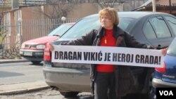 Vikić je imao podršku nekoliko desetina poznanika i građana