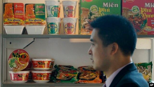 Ảnh minh hoạ: Các loại mì ăn liền của Việt Nam.