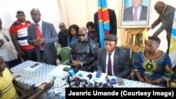 Abahurikiye m'urunani Rassemblement mu kiganiro n'abamenyeshamakuru i Kinshasa, RDC, 22 avril 2017.