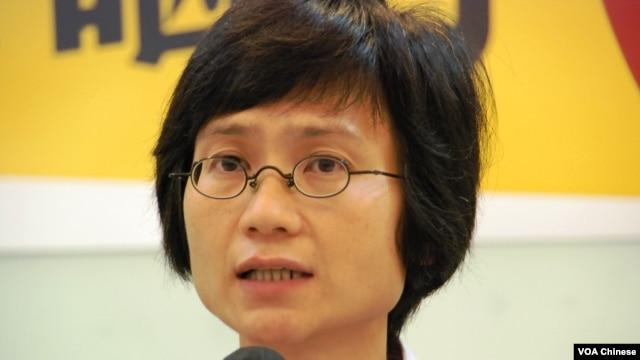 香港國民教育科家長關注組發起人陳惜姿(攝影﹕美國之音湯惠芸)
