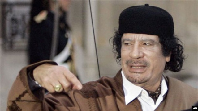 Muammar Gadhafi (file photo)