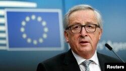 ARHIVA - Predsednik Evropske komisije Žan-Klod Junker na konferenciji za novinare posle neformalnog samita lidera EU u Briselu, 23. februar 2018.