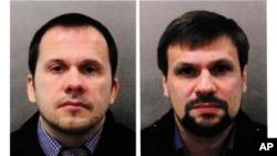 Ảnh truy nã Alexander Petrov (trái) và Ruslan Boshirov do cảnh sát Anh cung cấp.