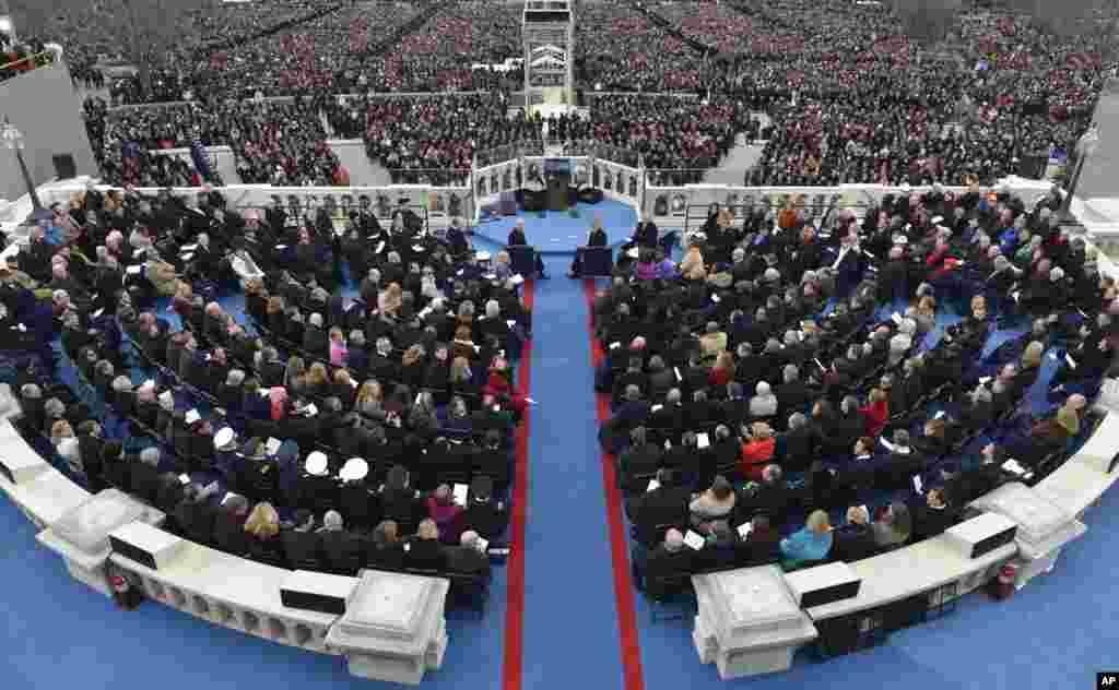 21일 바락 오바마 대통령 2기 취임식이 열린 국회의사당 연단에서 바라본 내셔널 몰.