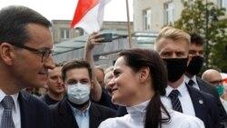 Udhëheqësja e opozitës bjelloruse, Sviatlana Tsikhanouskaya viziton Poloninë më 9 shtator 2020