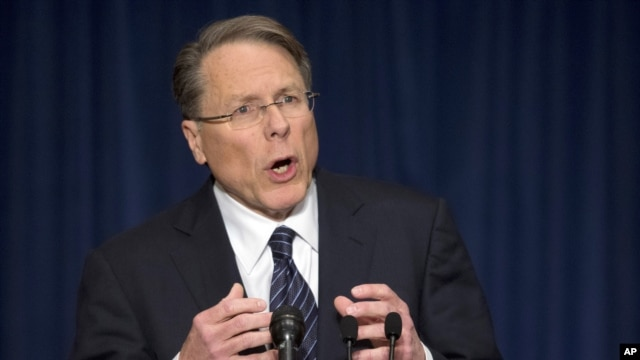 The National Rifle Association executive vice president Wayne LaPierre (2012 photo)