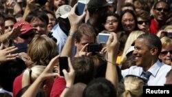 Барак Обама в Университете штата Айова. 28 августа 2012 года
