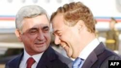 Серж Саргсян и Дмитрий Медведев. Архивное фото.