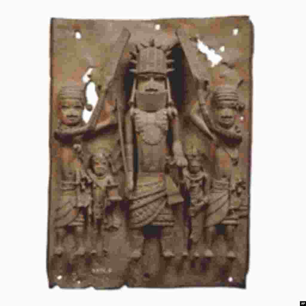 Benin Bronzes created by the Edo peoples of Benin, Nigeria, in the 16th Century.