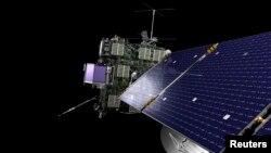 미 항공우주국(NASA)과의 협력을 통해 유럽우주국(ESA)이 지난 2004년 발사한 혜성탐사선 '로제타' 개념도.