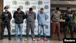 Beberapa anggota gang narkoba yang berhasil ditangkap (foto: dok). Interpol memimpin operasi di Karibia dan Amerika Tengah yang berhasil menyita ratusan juta dolar narkoba.