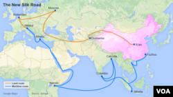 """Карта проекту """"Один пояс, один шлях"""""""