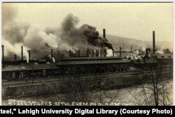 Pensilvaniyadagi po'lat zavodi. 1900-yillar boshi.