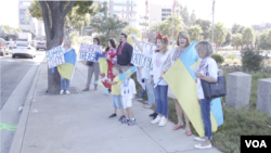 Ukrainians protest in Los Angeles