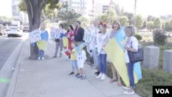 Ukrainians protest in Los Angeles