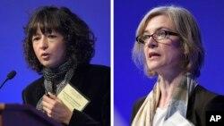 法國科學家艾曼紐·夏蓬蒂耶(左)和美國科學家詹妮弗·杜納獲得諾貝爾化學獎。