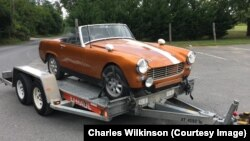 Charles Wilkinson purchased this Austin Healy Sprite for $600 to work on his auto repair skills.