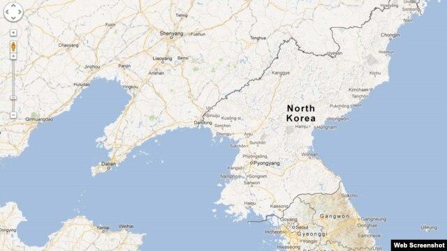 Bản đồ chi tiết về Bắc Triều Tiên của Google