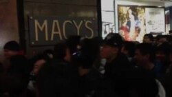 Crowds Rush Into Macy's Herald Square on Thanksgiving
