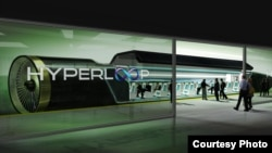 Concept drawing of SpaceX founder Elon Musk's vision of his proposed 'Hyperloop' transportation system. (SpaceX)