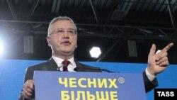 Один из вероятных единых кандидатов в президенты Украины от демократических сил Анатолий Гриценко