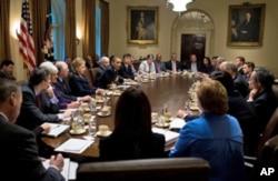 奥巴马总统的内阁会议