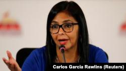 Delcy Rodríguez, presidenta de la Asamblea Nacional Constituyente, fue nombrada vicepresidenta de Venezuela en reemplazo de Tareck El Aissami, que pasa a encabezar el Ministerio de Industrias y Producción Nacional.