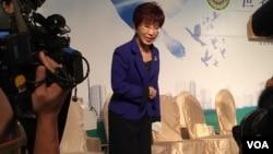 台湾立法院副院长洪秀柱。(照片来源:美国之音李逸华拍摄)