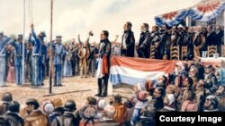 The Annexation of Texas to the Union, painting by Donald M. Yena. Texas State Library and Archives Commission