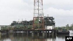 Station de débit et usine à gaz de Belema, le 23 août 2017, qui a été temporairement fermée par Shell Petroleum Development Company (SPDC).