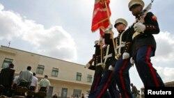 Para marinir di kompleks Kedutaan Besar AS di Nairobi, Kenya. (Foto: Dok)