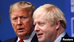 美国总统特朗普和英国首相约翰逊