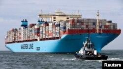 عکس آرشیوی از یک کشتی باری متعلق به «مرسک لاین» یکی از شرکتهای زیرمجموعه مرسک، بزرگترین شرکت حمل و نقل دریایی جهان
