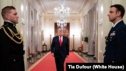 Shugaban Amurka Donald J. Trump a cikin Fadar White House