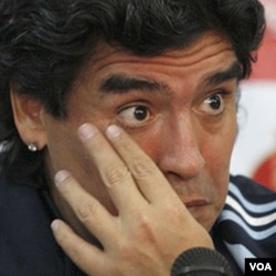 Argentinian soccer star Diego Armando Maradona.