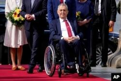 Predsjednik Češke Republike Miloš Zeman učestvuje u zvaničnoj ceremoniji u Praškom zamku, 26. avgusta 2021.