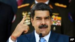 Presiden Nicolas Maduro di Istana Kepresidenan Venezuela, Miraflores, Caracas. (Foto: dok).